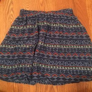Printed Hollister Blue Circle/Skater Skirt!!